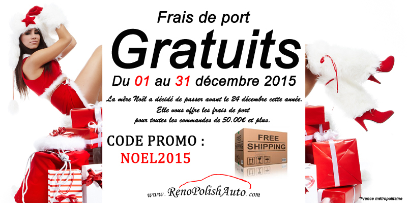 Code de r duction et coupons promos sur renopolishauto - Reduction showroomprive frais de port ...