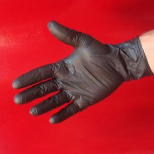 Gant de protection Nitrile noir SMALL (6/7) par 10 (EPI)