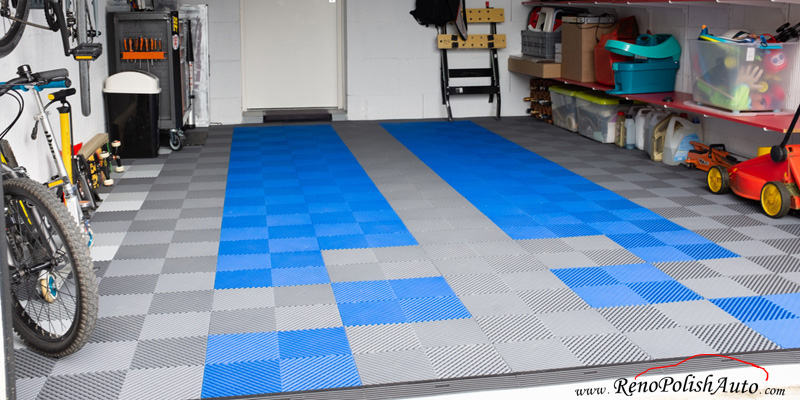 Dalle-de-garage-PVC-Bleue-Sol-Polypropylene